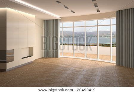 Living Without Furniture by Interior Of Living Room Without Furniture Stock Photo