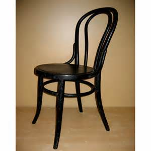 Thonet Bentwood Chair Vintage Black Thonet Bentwood Cafe Chair