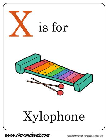 x is for xylophone letter x coloring page pdf