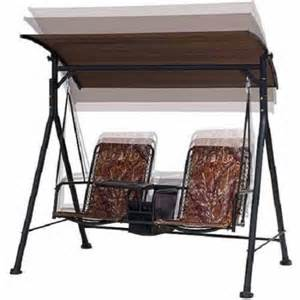 Patio Swing Accessories Camo 2 Individual Seat Bungee Swing Set Canopy Table