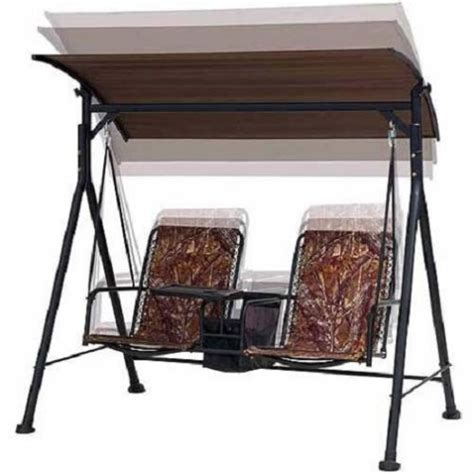 camo 2 individual seat bungee swing set canopy table