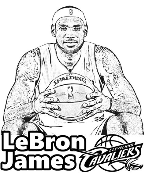 lebron james coloring page sam pinterest lebron