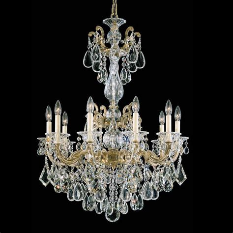 Schonbek 5008 La Scala 10 Light Up Lighting Chandelier Schonbek Chandeliers