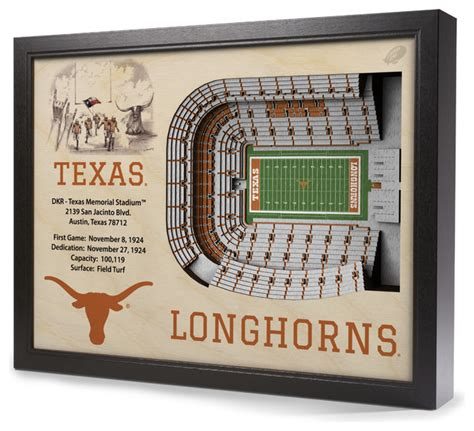 texas longhorns home decor texas longhorns darrell k royal texas memorial stadium 3