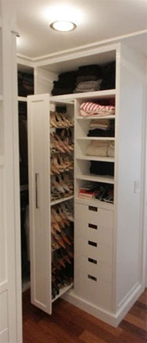 Shoe Closet With Doors Walk In Closet With Paneled Bi Fold Wardrobe Closet Doors Transitional The Pull Out Shoe Door Closet To Save Space And Find Shoes Easily Levine Closet Pinterest