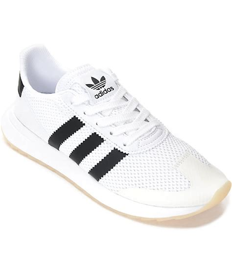 adidas white shoes adidas flashback white black shoes