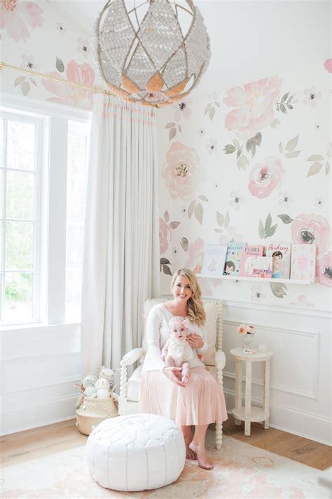 glitter wallpaper nursery in the nursery with monika hibbs beautiful baby girls
