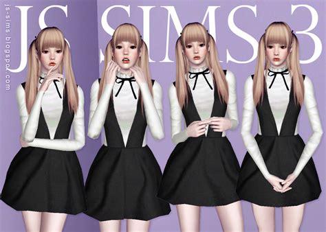 js sims 4 bow collar dress js sims 3 bow collar dress