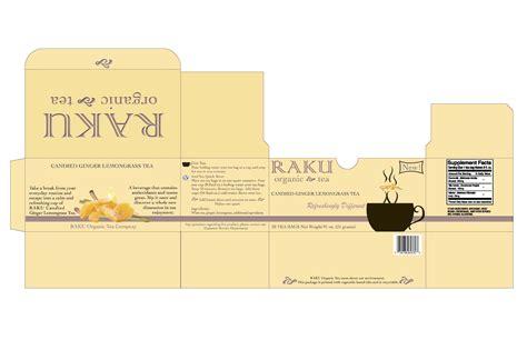 layout package raku organic tea packaging design by patricia caren at