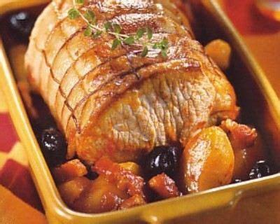 cuisiner l 馗hine de porc r 244 ti de porc 224 l andalouse cuisine az
