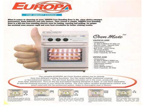 Oven Elektrik Besar oven ketuhar elektrik dan gas kedai mesin makanan