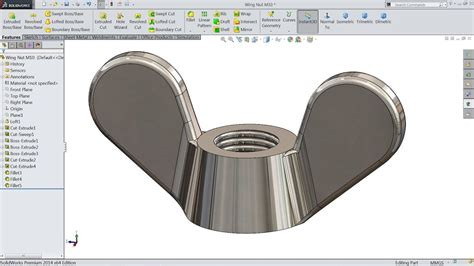 solidworks tutorial nut solidworks tutorial how to sketch wing nut in solidworks