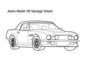 Aston Martin Coloring Pages Aston Martin V8 Vantage Coloring Page Coloring Pages
