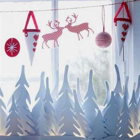 Fensterdeko Weihnachten Rentier by Bezaubernde Winter Fensterdeko Zum Selber Basteln