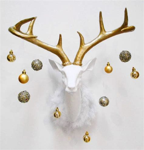 christmas decorations with deer head pic 25 best ideas about faux deer on deer heads deer decor and white deer heads