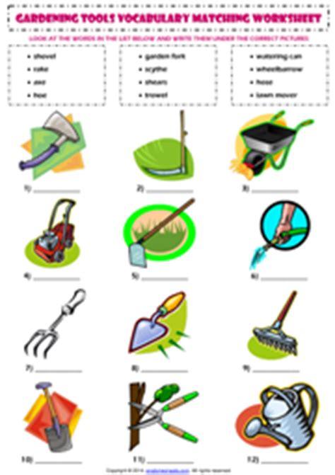 Gardening Verbs Gardening Tools Esl Printable Worksheets And Exercises