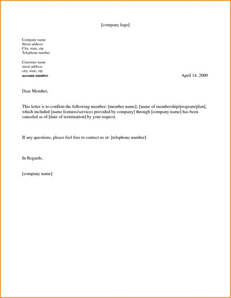 letter template gym cancellation memo templates membership