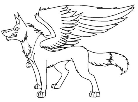winged wolf coloring page winged wolf pack coloring pages coloring pages