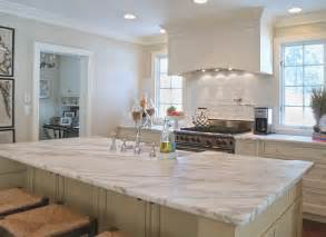 Kitchen kitchen countertop options with marble material on white