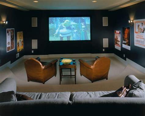 dark blue media room color schemes traditional home