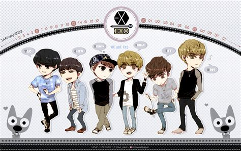 exo cartoon iphone wallpaper exo cartoon gallery