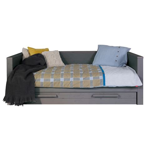 trundle couch bed dennis day bed with trundle drawer in steel grey kids