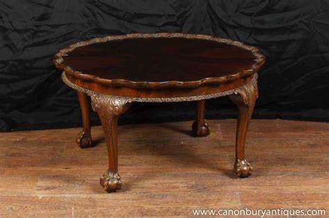 antique mahogany chippendale coffee table carved tables