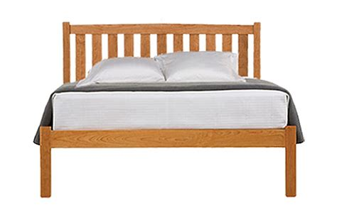 natural wood platform bed crown mission natural cherry wood platform bed frame low