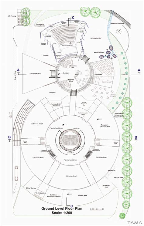 planetarium floor plan planetarium floor plan studies floor plans and specs buhl planetarium and melaka planetarium
