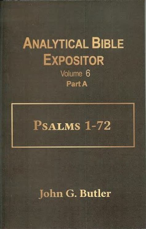 Alliterated Sermon Outlines By G Butler by Analytical Bible Expositor Scripturetruth