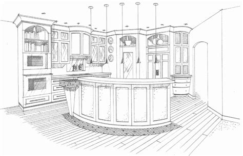 Kitchen Design Drawings | small kitchen cabinets 3d drawing best home decoration