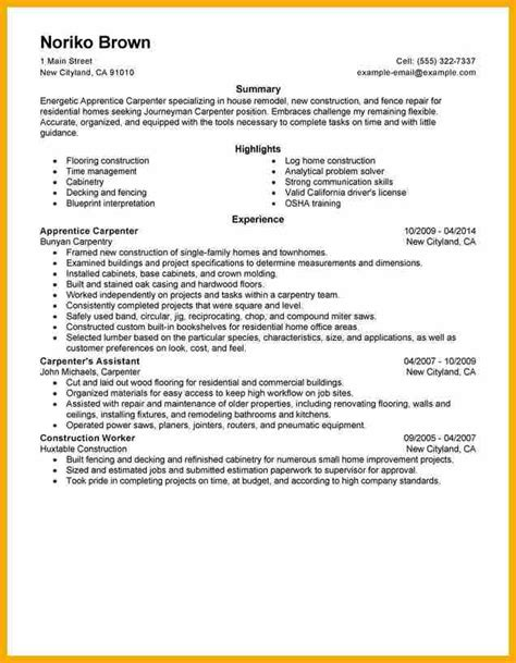 Cover Letter Construction Carpenter 8 Carpenter Resume Bursary Cover Letter