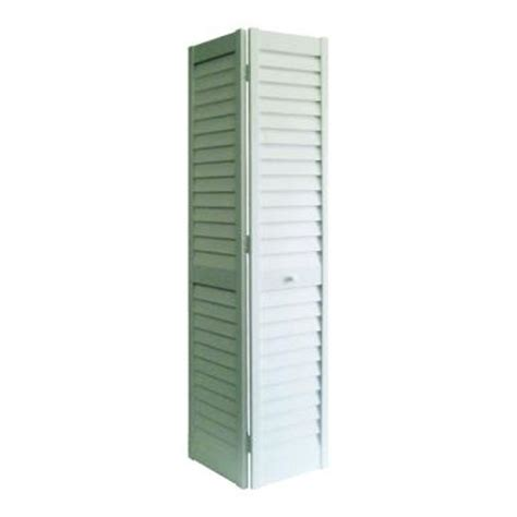 Interior Bifold Louvered Closet Doors Home Fashion Technologies 30 In X 80 In 3 In Louver Louver White Composite Interior Bi Fold