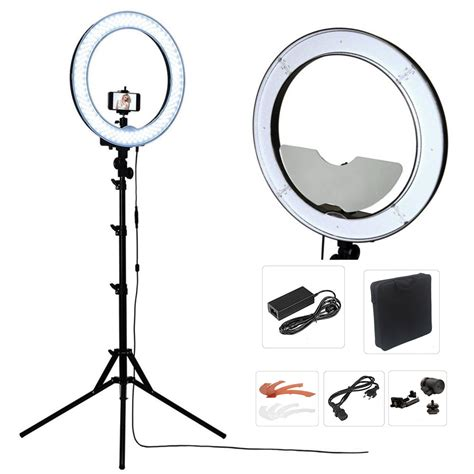 ring light for video camera studio dimmable 18 55w 5500k led camera mirror video ring