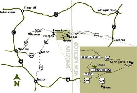 white mountains arizona map arizona s white mountains