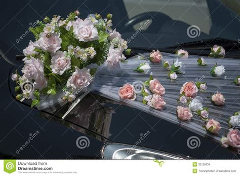 Fresh Flower Car Decoration by Wedding Car Decoration Stock Images Image 32120634