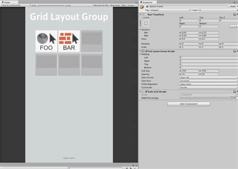 layout grid unity3d unity3d scale cell size of grid layout group find make