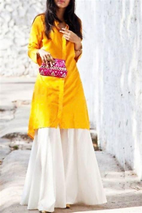 Set Rabia Dress set yellow smart kurti with stylish palazzo my fashion