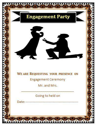 Engagement Ceremony Invitation Template Free Word Templates Engagement Invitation Templates Free