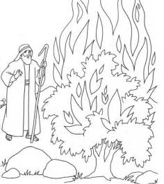 moses coloring pages moses burning bush coloring page az coloring pages