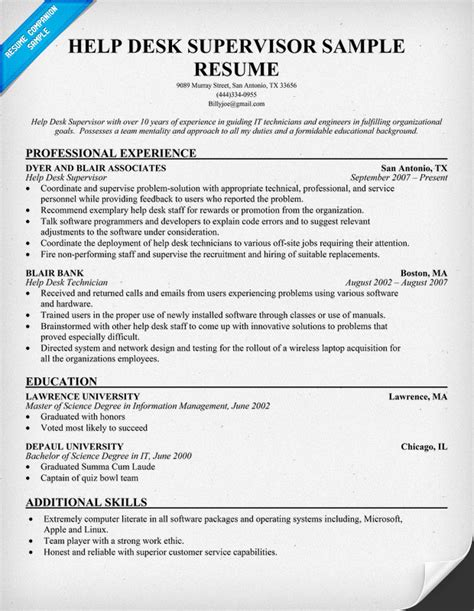 helpdesk analyst resume images frompo 1