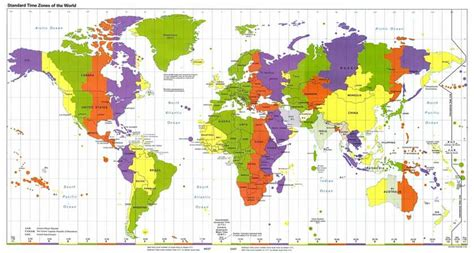 world time zones map world clock map standard time zones