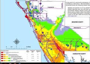 county florida flood zone map florida evacuation zones