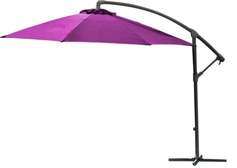 Parasol Rond Inclinable by Parasol Rond D 233 Port 233 Inclinable Avec Pied En Croix Framboise