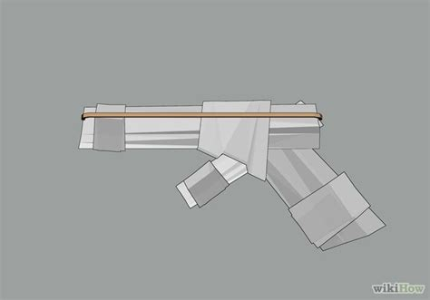 How To Make A Paper Gun That Shoots Without Blowing - how to make a paper gun that shoots 11 steps with pictures