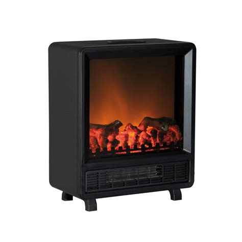 log flame effect contemporary electric stove  fan