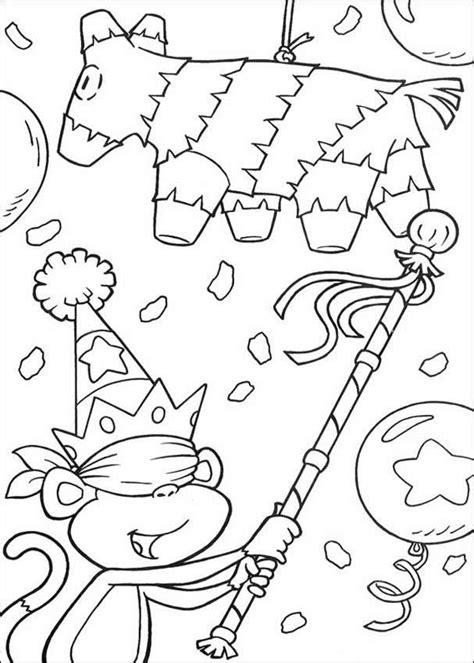 birthday party coloring pages hellokids com