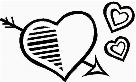imagenes de corazones simples im 225 genes de san valentin para colorear dibujode