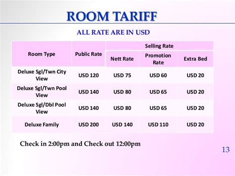 types of hotel room rates sokharoth hotel