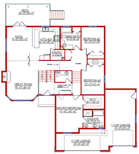 Bi Level Floor Plans by 13 Pictures Bi Level House Designs House Plans 87328